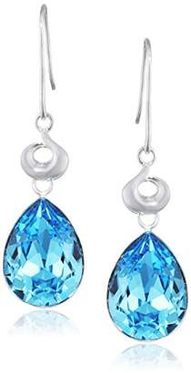 At Co Uk Swarovski Elements Silver Sterling Las E3819t Aquamarine Crystal Teardrop Earrings