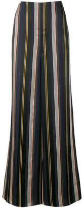 Roksanda striped flared trousers