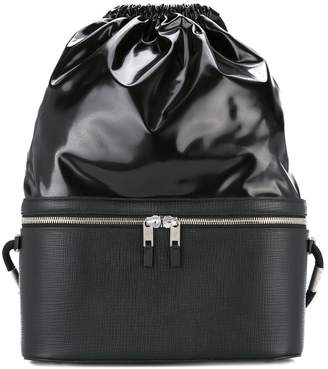 Maison Margiela panelled drawstring backpack