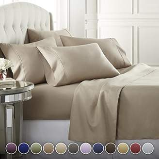 +Hotel by K-bros&Co 6 Piece Hotel Luxury Soft 1800 Series Premium Bed Sheets Set