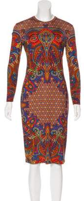 Givenchy Abstract Print Bodycon Dress