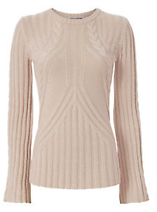 Autumn Cashmere Bell Sleeve Cable Knit $298 thestylecure.com