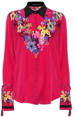 Etro Floral printed silk blouse