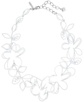 Oscar de la Renta Gold Botanical Scribble Necklace