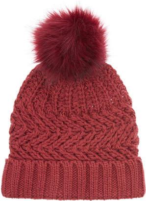 Accessorize Thinsulate Zig Zag Stitch Pom Beanie Hat