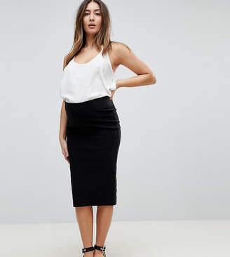 5cb5b8bf7e2 Asos DESIGN Maternity high waisted pencil skirt