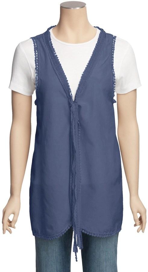 True Grit Lace-Trim Vest (For Women)
