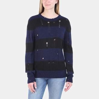 Iro . Jeans Iro Jeans Stys Merino Wool Distressed Striped Sweater