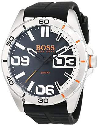 HUGO BOSS Men's 'Berlin' Quartz Stainless Steel and Rubber Casual Watch
