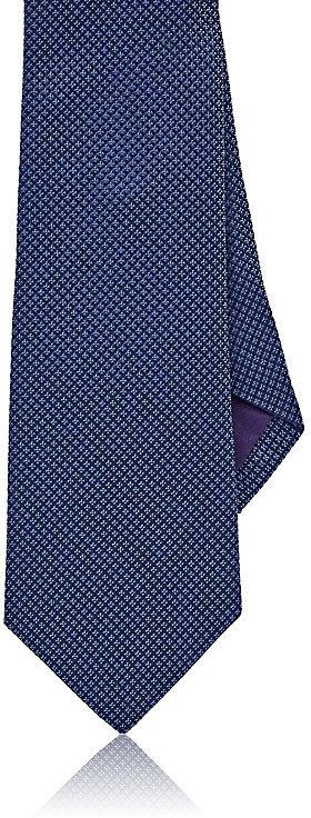 Ralph Lauren Purple LabelRalph Lauren Purple Label Men's Diamond Neat Silk Necktie-Navy, Blue