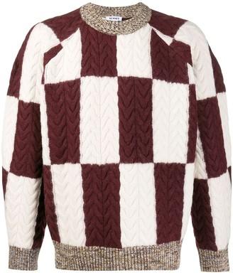 Sunnei contrast geometric sweater