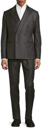 Dolce & Gabbana Men's Classic Fit Three-Piece Dotted Wool Suit