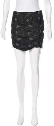 Robert Rodriguez Silk-Accented Mini Skirt