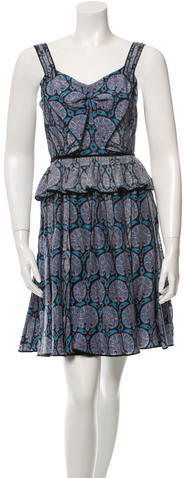 Marc Jacobs Marc Jacobs Ruffle-Accented Printed Dress