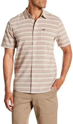 Volcom Sable Short Sleeve Modern Fit Stripe Woven Shirt
