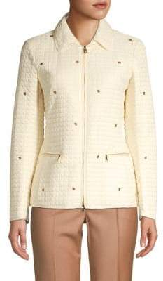 Salvatore Ferragamo Grommet Collared Jacket