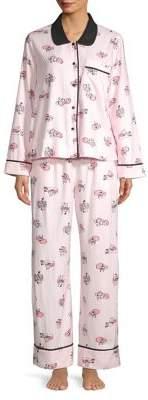 Kate Spade Two-Piece Foxy Pajama Set