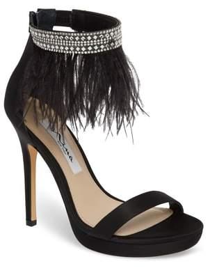 Nina Fran Embellished Feather Sandal