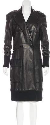 Diane von Furstenberg Hitchcock Leather Coat