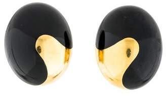 Tiffany & Co. 18K Black Jade Yin Yang Earclip Earrings