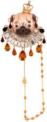 Dolce & Gabbana Gold Pug Brooch