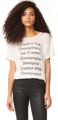 Wildfox Grocery List Tee $68 thestylecure.com