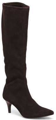 Made In Spain Suede High Shaft Boots