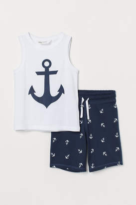 H&M Vest top and shorts