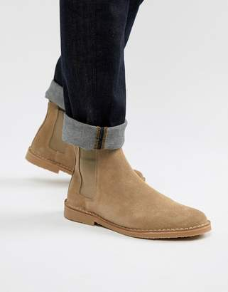 Office Iberian chelsea boots in beige suede