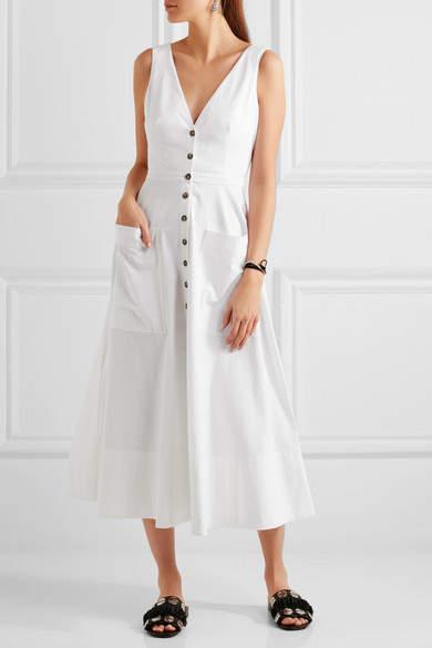 Saloni - Zoe Cutout Cotton-blend Dress - White 5