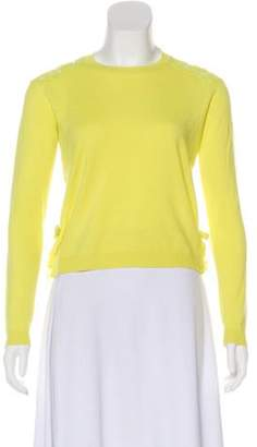 Valentino Wool & Cashmere Lace Back Sweater Lime Wool & Cashmere Lace Back Sweater