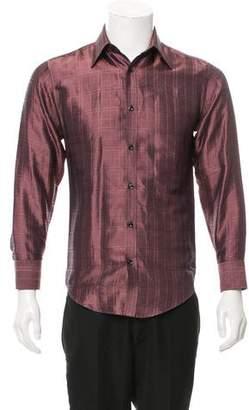 Saint Laurent Check Print Silk Shirt