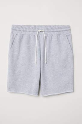 H&M Raw-edged Sweatshorts - Gray