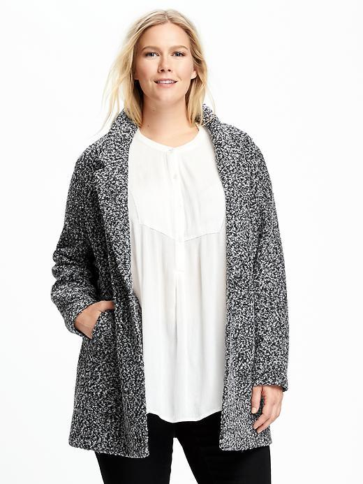 Old Navy Marled-Bouclé Plus-Size Jacket