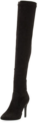 Joie Jemina B Faux-Suede Over-the-Knee Boot, Black $378 thestylecure.com