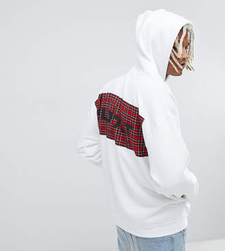 Reclaimed Vintage inspired oversized check sold out hoodie