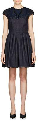 Fendi Women's Embellished Denim Dress