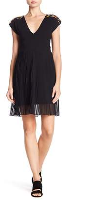 French Connection Dumaka Beaded & Pleated Dress
