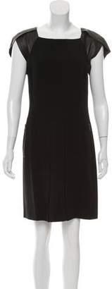 Rag & Bone Leather-Accented Sheath Dress
