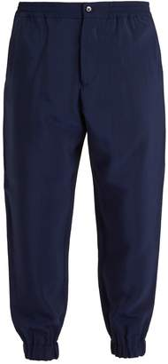 Etro Elasticated-waist twill trousers