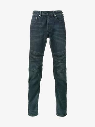 Neil Barrett blue biker skinny jeans