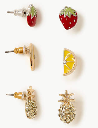 Marks and Spencer Fruits Stud Earrings Set