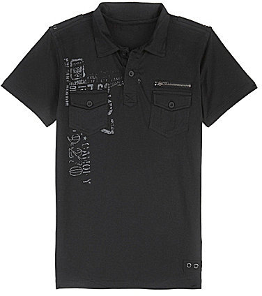 First Wave 8-20 Graphic Polo Shirt