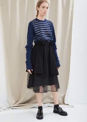 Noir By Kei Ninomiya Grosgrain and Tulle Layered Skirt