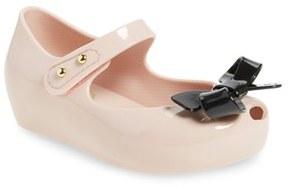 Toddler Girl's Mini Melissa 'Ultragirl - Bow' Mary Jane Flat $59.95 thestylecure.com