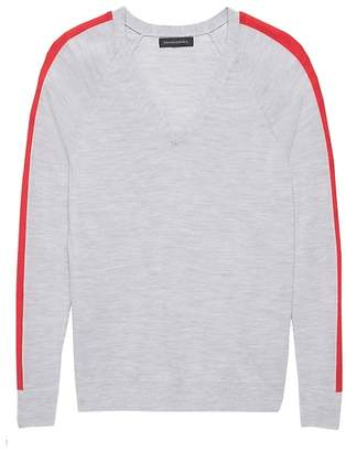 Banana Republic Washable Merino Side-Stripe Sweater b6fd64639
