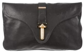 Balenciaga Leather Tube Clutch M