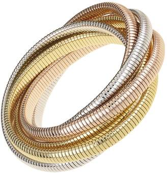 Janis Savitt High Polished Six Cobra Bracelet - Yellow Gold, Rose Gold and Rhodium