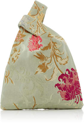 Hayward Mini Venetian Silk-Jacquard Shopper Tote