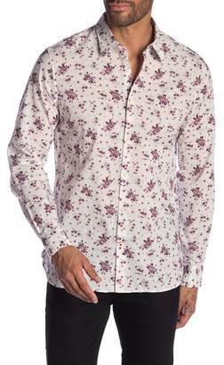 John Varvatos Floral Print Regular Fit Shirt